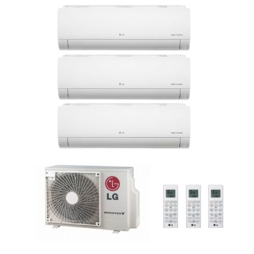 Lg Air Conditioning MU3M19.UE4 Multi Inverter Heat Pump Wall Mounted 3 x 2.5Kw Deluxe A++ 240V~50Hz